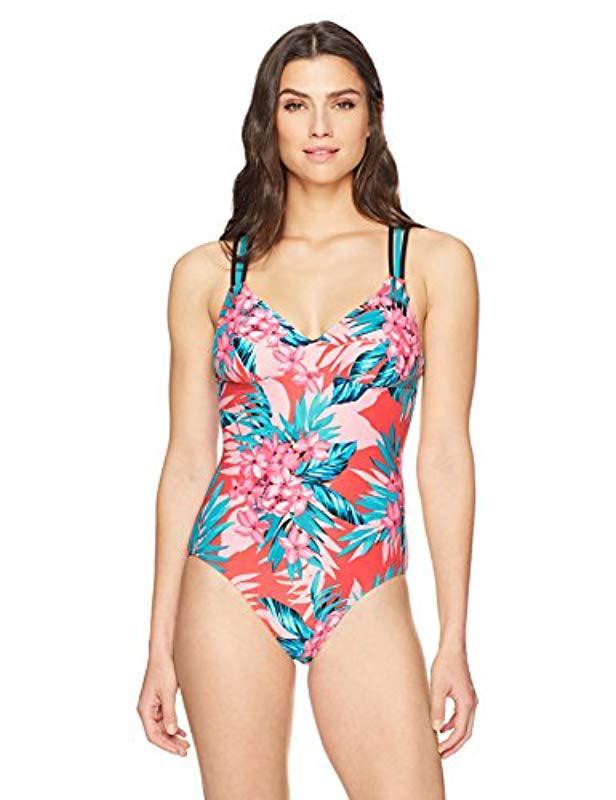 a8e171518aa07 Coastal Blue. Women's Swimwear Strappy Back One Piece Swimsuit