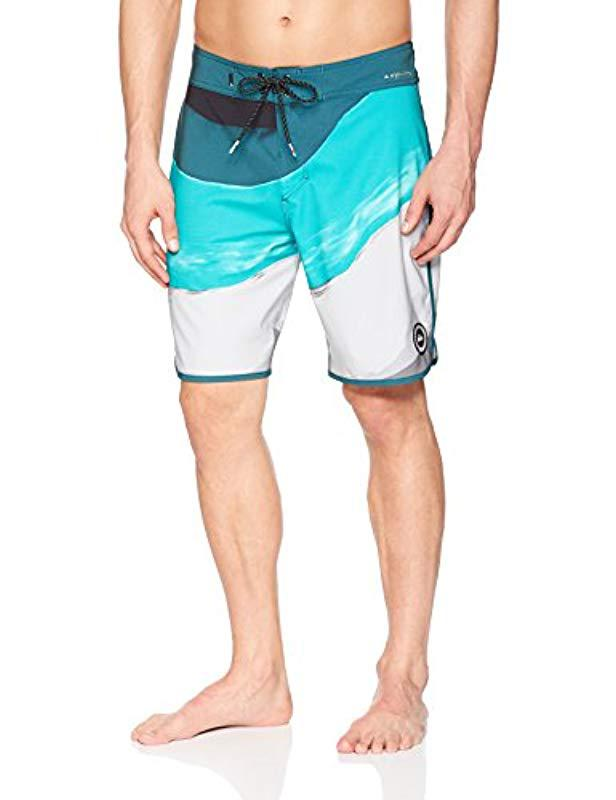 8faaa9f29c Quiksilver - Blue Highline Resin Scallop 19 Boardshort Swim Trunk for Men -  Lyst. View fullscreen