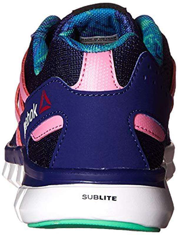Lyst - Reebok Sublite Xt Cushion Mt Running Shoe in Blue - Save 18.75% cc7dca6df