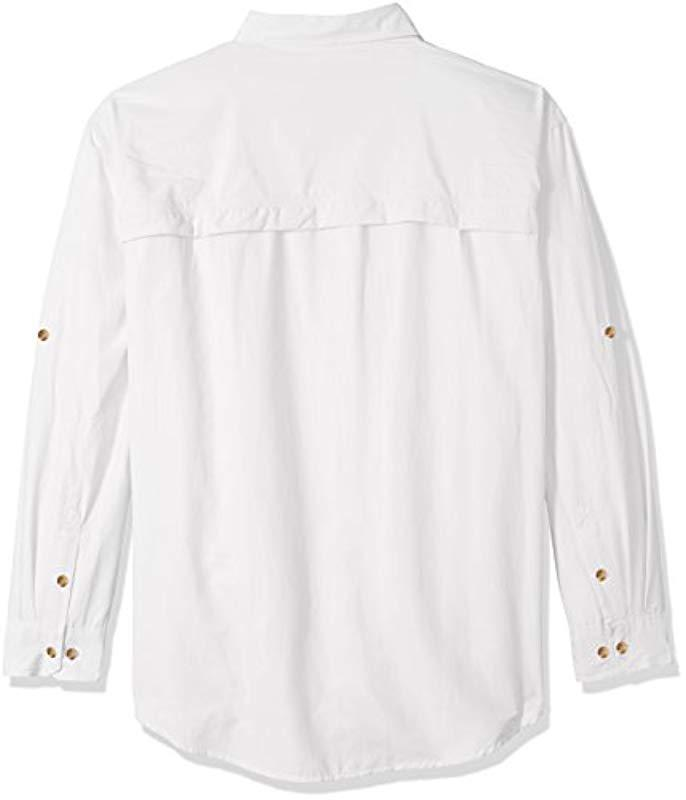 af924061681 G.H.BASS - White Big And Tall Explorer Survivor Long Sleeve Point Collar  Fishing Shirt for. View fullscreen