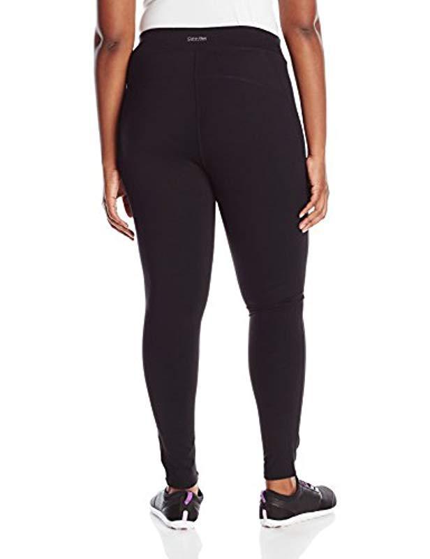 2d9cdafe0d058b Lyst - Calvin Klein Performance Size Plus High Waist Ankle Legging in Black