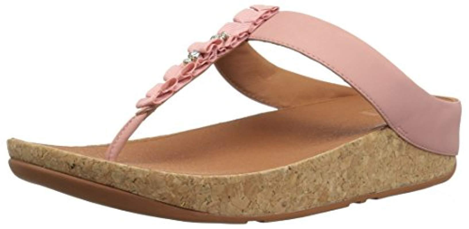 a6df499991de10 Lyst - Fitflop Ruffle Toe-thong Sandal in Pink - Save 4%