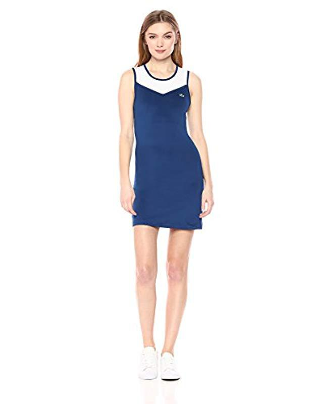 3929c3b92c385 Lyst - Lacoste Sport Technical Stretch Jersey Tennis Dress