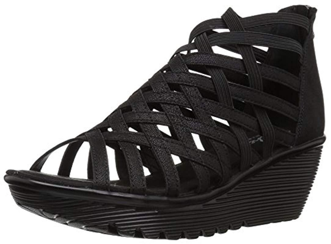 c939a3c461c Lyst - Skechers Parallel-dream Queen Wedge Sandal in Black - Save 6%