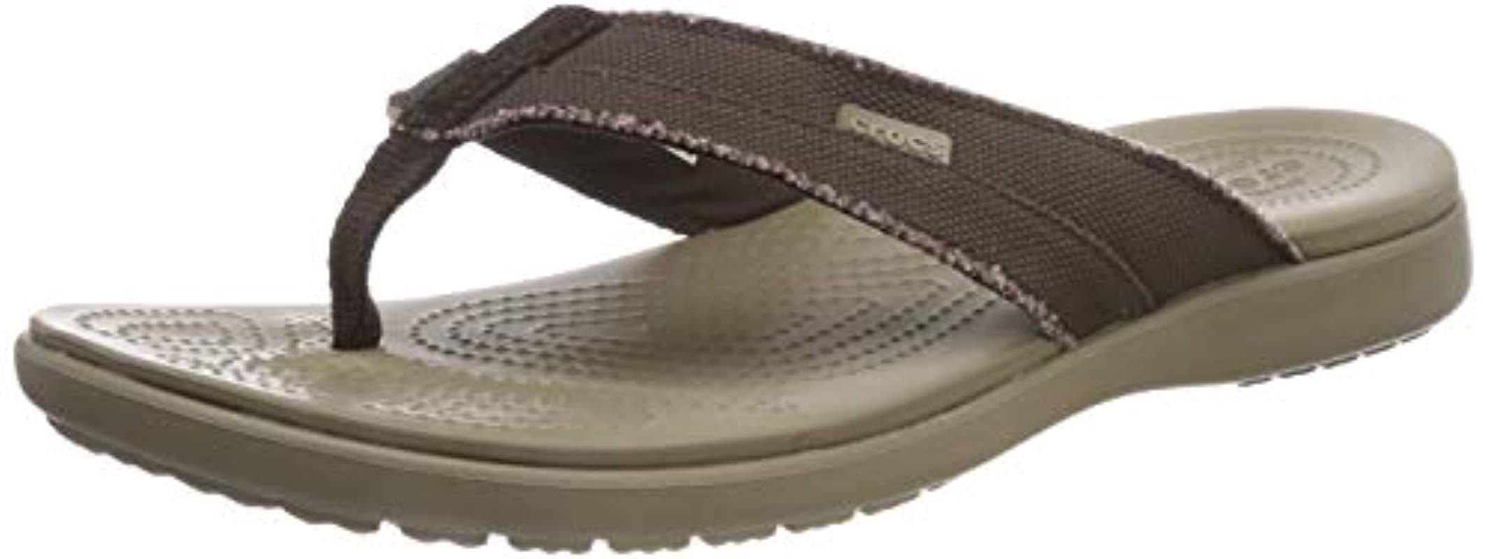 cf80e8f6ef34 Lyst - Crocs™ Santa Cruz Canvas Flip Flop in Natural for Men