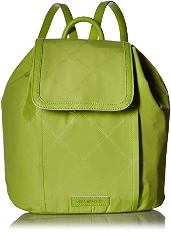 374511ac0d02 Vera Bradley - Green Preppy Poly Backpack