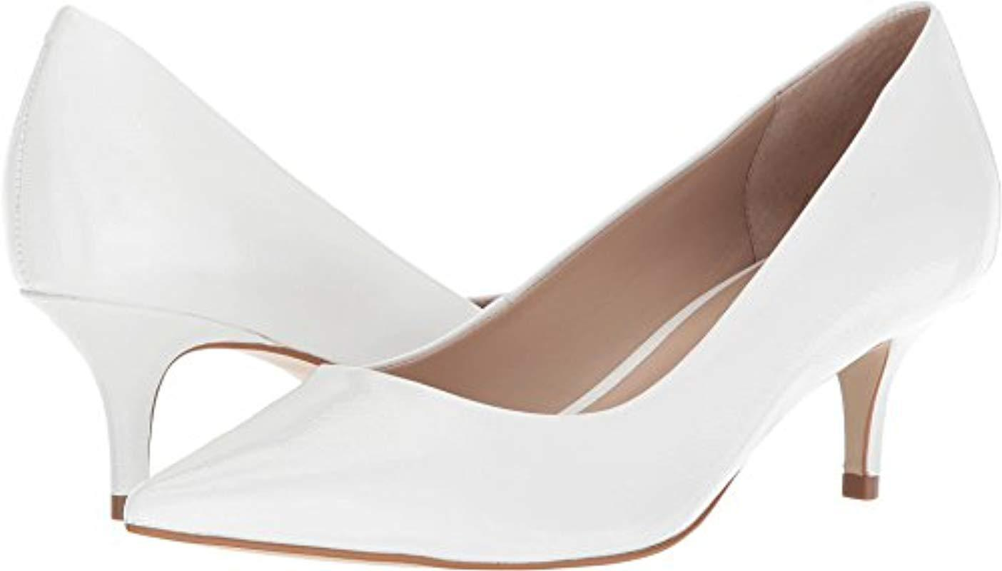 90adea2f6d6 Lyst - Steve Madden Sabrinah Pointed Toe Pump in White - Save ...