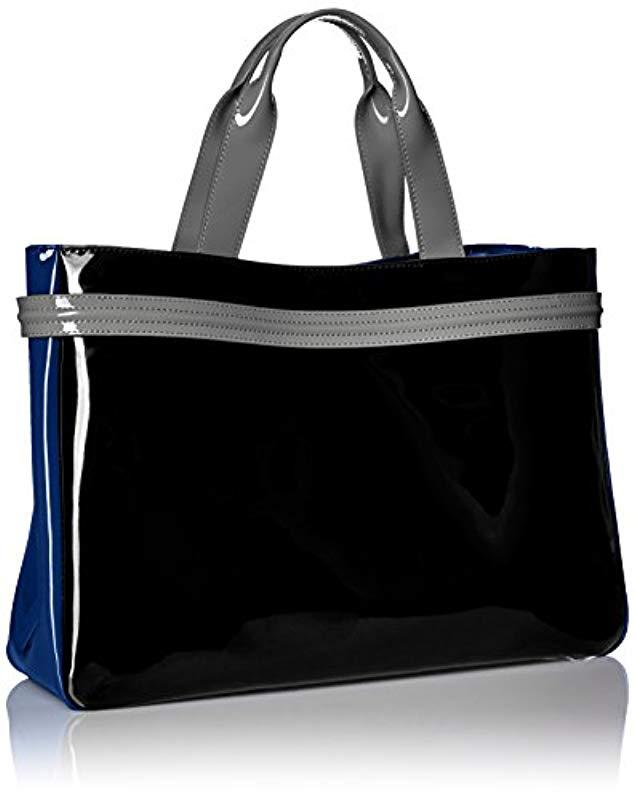 Lyst - Armani Jeans Patent Rj East West Tote in Black 4ef36fe6dafc8