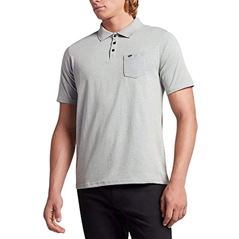 d9196f8b35977 Lyst - Hurley Nike Dri-fit Short Sleeve Lagos Polo in Gray for Men ...