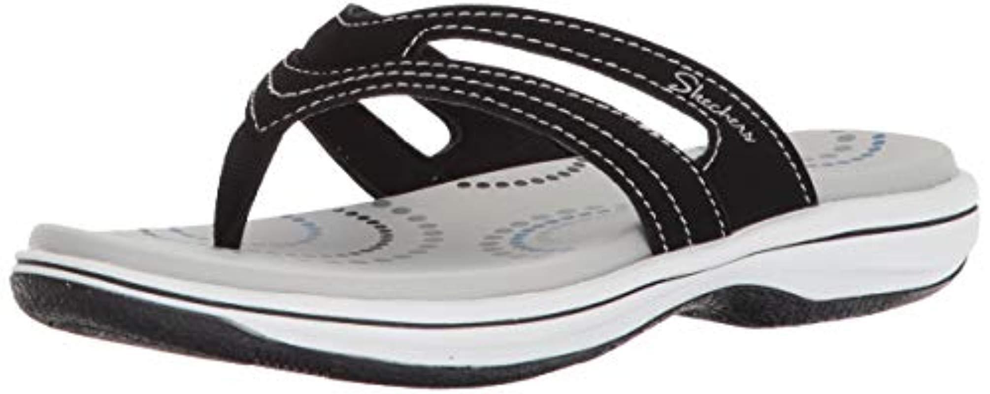 c5bbc73de282 Skechers. Women s Black Bayshore-hidden Springs-contrast Stitching Thong  Flip-flop