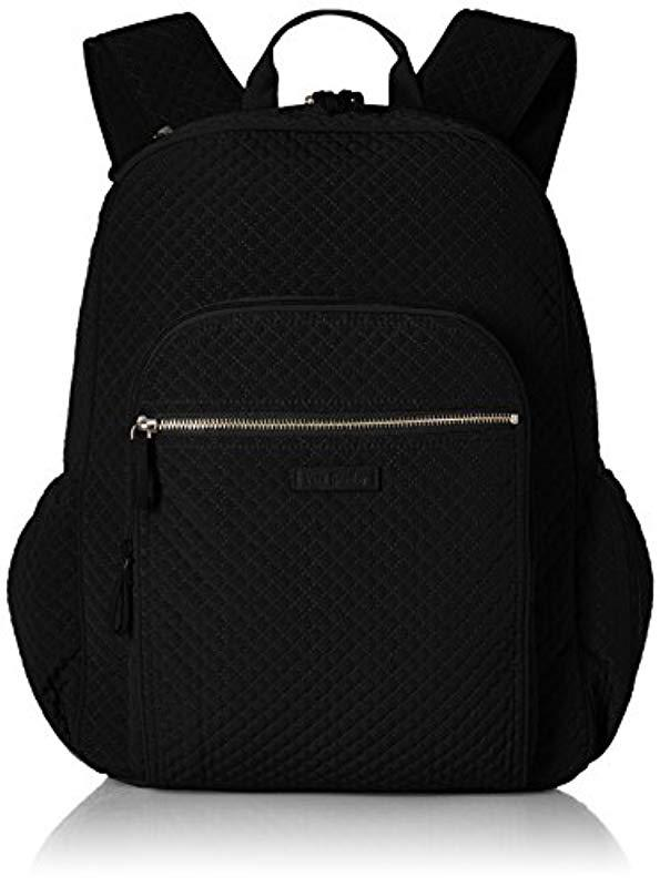 d4fa40a5c213 Vera Bradley. Women s Black Iconic Campus Backpack ...