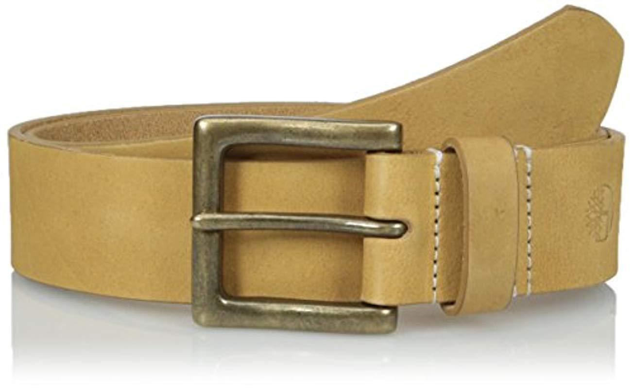 7662b68a64c Timberland 38 Mm Boot Leather Wheat Belt in Natural for Men - Save ...
