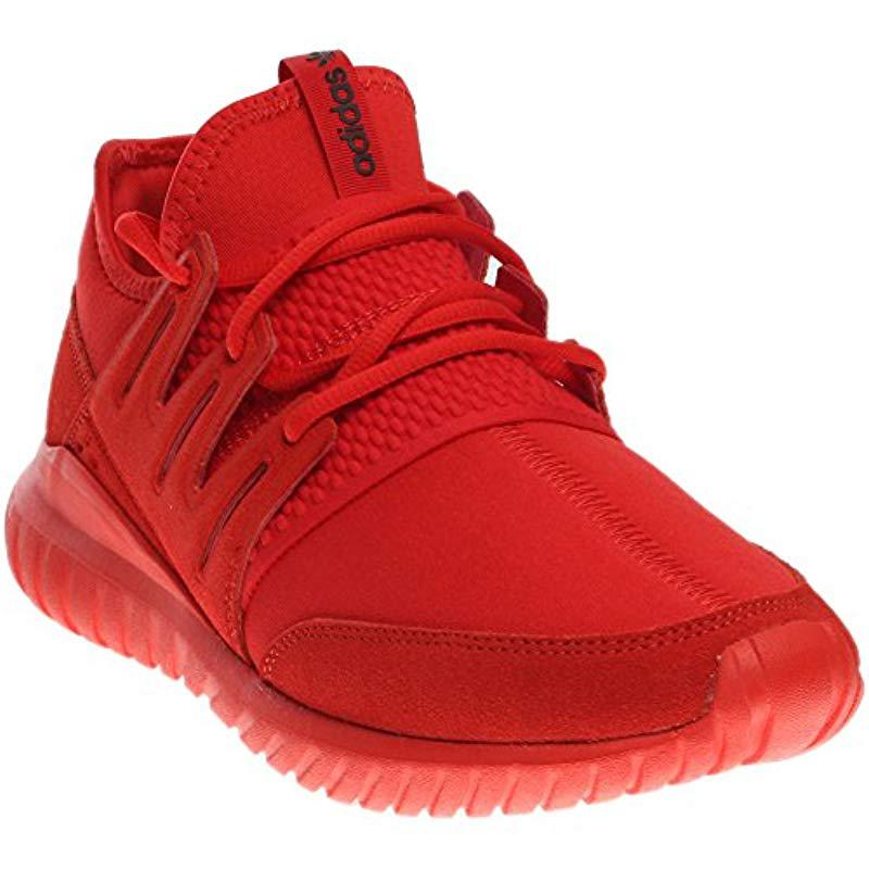 8be26347c5c Lyst - adidas Originals Tubular Radial Fashion Sneaker in Red for ...