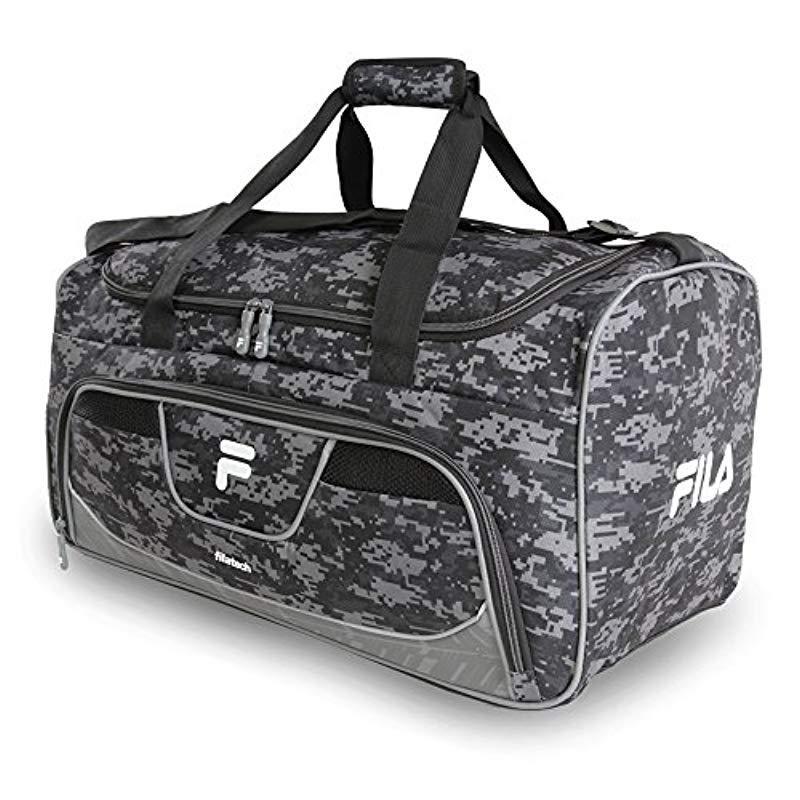 Fila - Black Speedlight Medium Duffel Gym Sports Bag Gym Bag - Lyst. View  fullscreen a77e2664b3bd5
