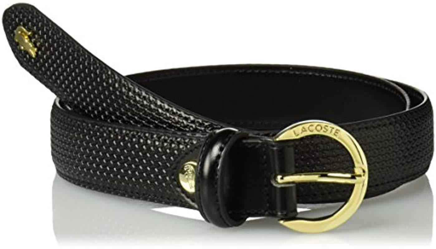 464af8db3d Lyst - Lacoste Premium Chantaco Coated Leather Belt, Black 39 In in ...