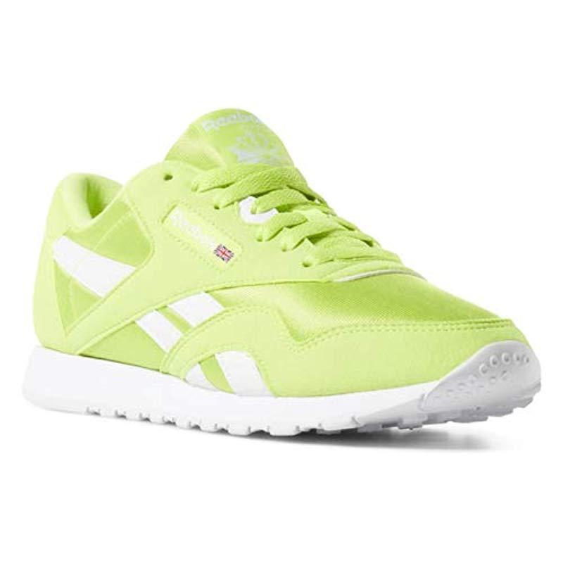 Lyst - Reebok Classic Nylon Sneaker in Green 313ef1530e3