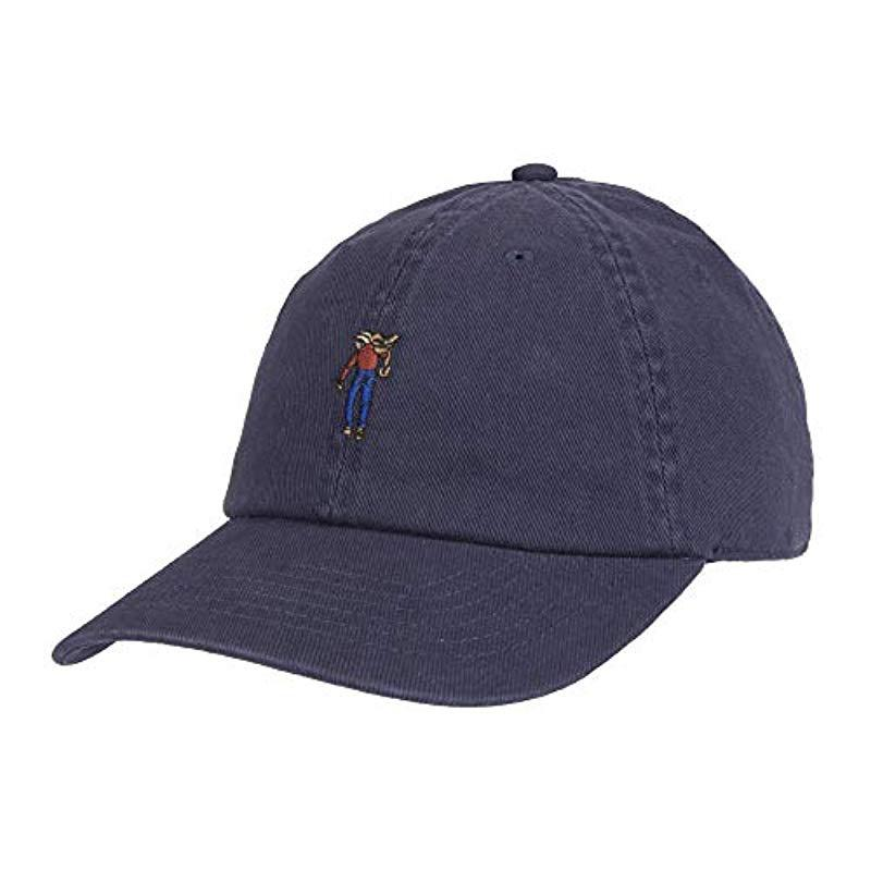 b9e88d3411cf8 Lyst - Levi s Twill Baseball Dad Hat in Blue for Men