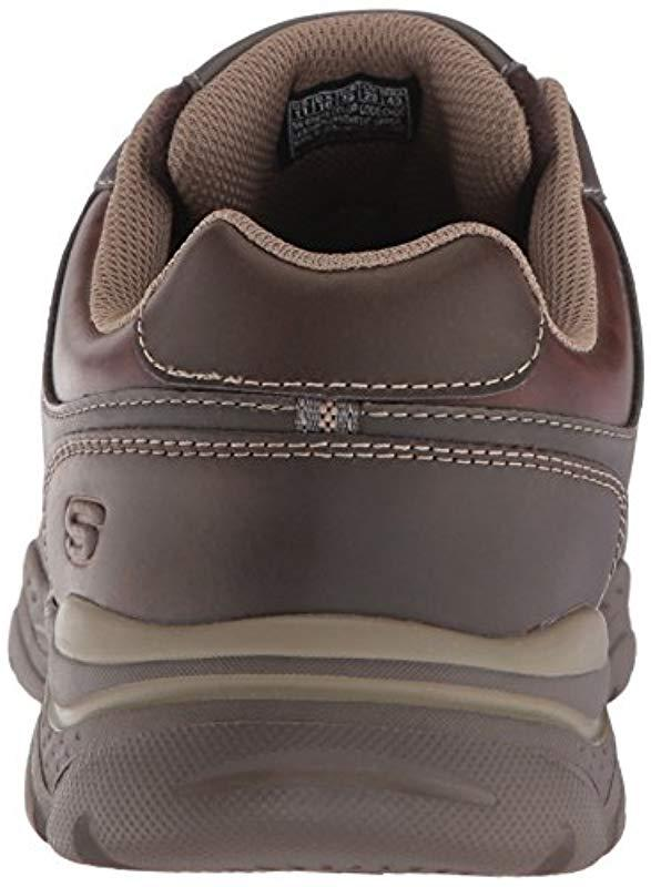 63a341878cea7 Skechers - Brown Relaxed Fit-rovato-texon Oxford for Men - Lyst. View  fullscreen