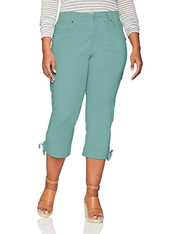 fb5162dc2ac Lyst - Lee Jeans Plus-size Relaxed Fit Nikki Knit Waist Capri Pant ...