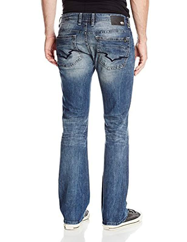 98f1de44361 Buffalo David Bitton - Blue King Slim Fit Bootcut Jean for Men - Lyst. View  fullscreen