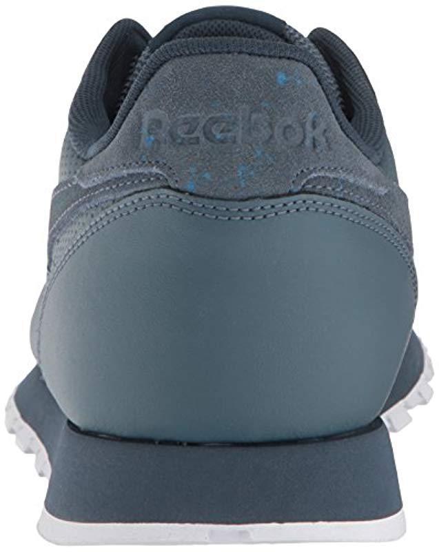 7743016cda5 Lyst - Reebok Classic Leather Sneaker in Blue for Men