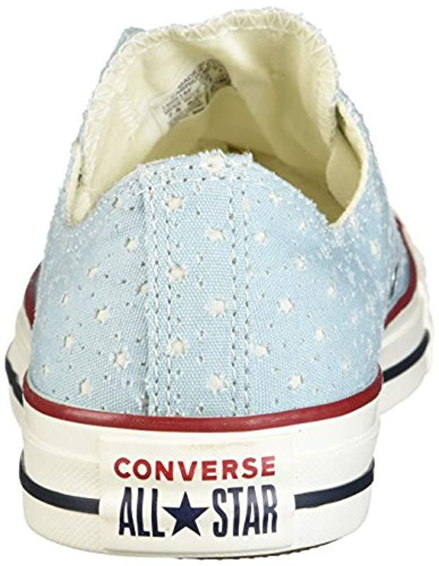 11cf12a9d9ba00 Lyst - Converse Unisex Chuck Taylor Perforated Stars Low Top Sneaker for  Men - Save 27%