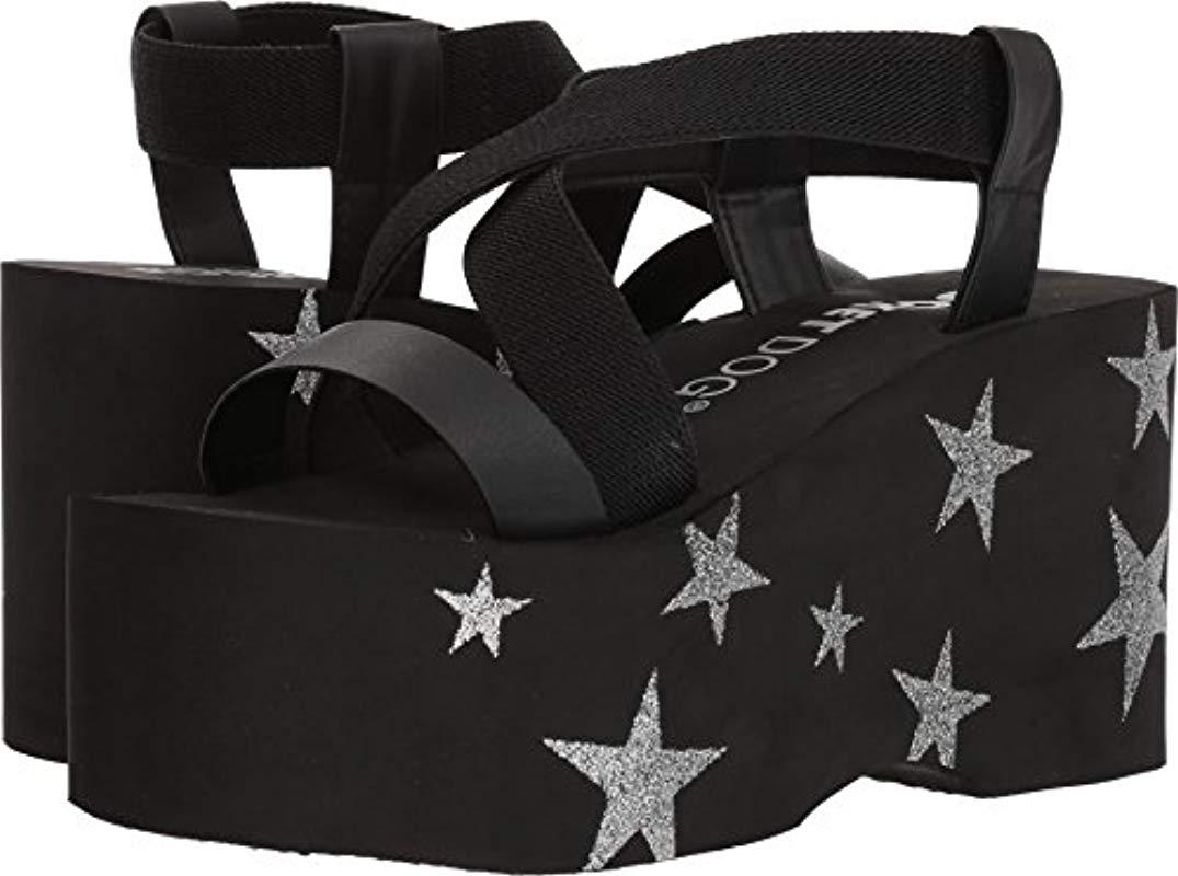 78965a61614 Rocket Dog. Women s Black Bayer Gore Fabric smooth Pu silver Star Eva Wedge  Sandal