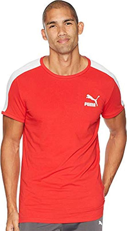 e7381b711 Lyst - Puma Archive T7 Stripe T-shirt in Red for Men - Save 56.25%