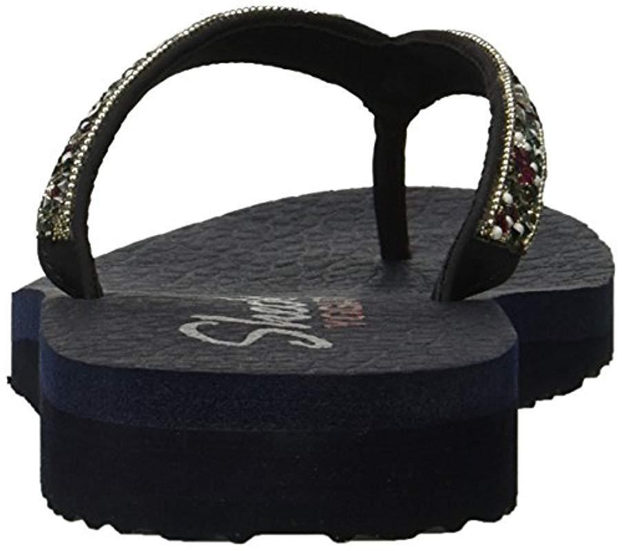 c59bb6c73 Lyst - Skechers Meditation-tahiti Sole Flip-flop in Blue - Save 50%