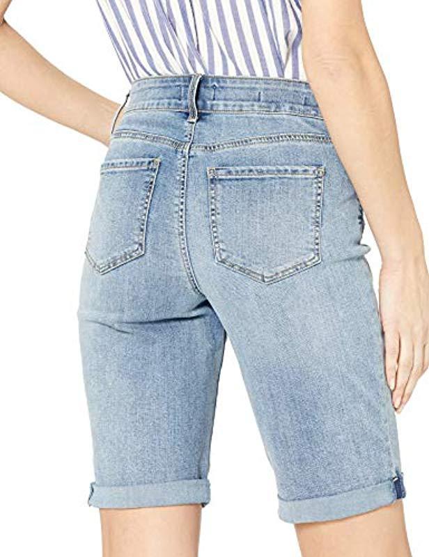 297a18d8cf NYDJ - Blue Briella Roll Cuff Short In Cool Embrace Denim - Lyst. View  fullscreen