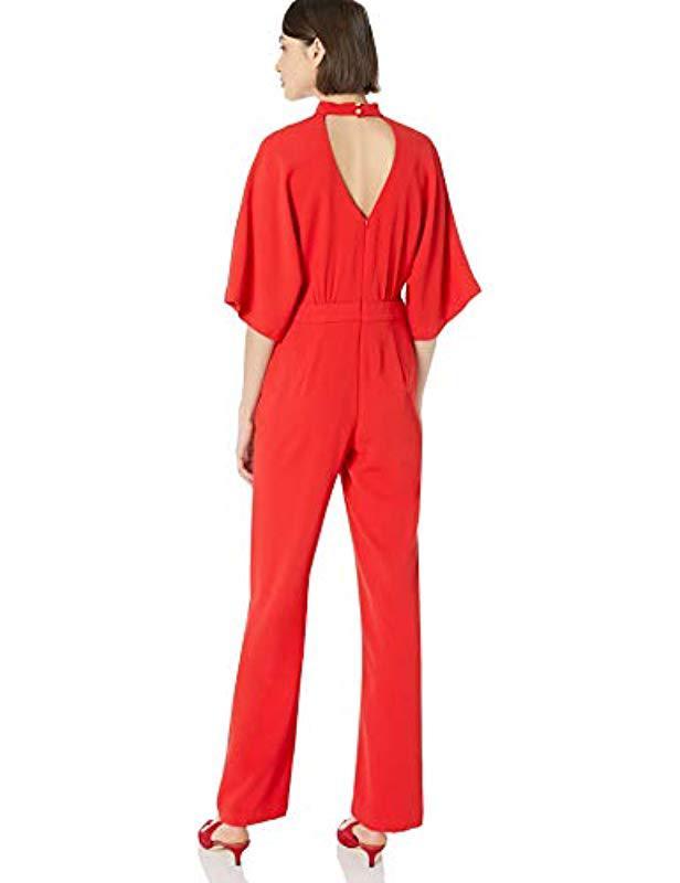 24b2b927cd0e Trina Turk - Red Ambient Choker Neck Jumpsuit - Lyst. View fullscreen