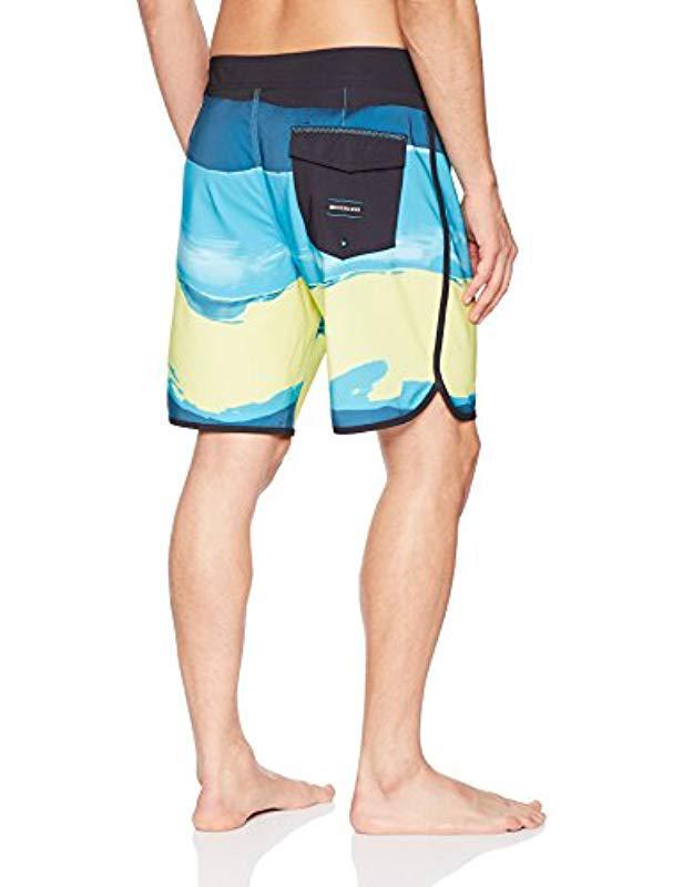 Lyst - Quiksilver Highline Resin Scallop 19 Boardshort Swim Trunk in Blue  for Men 01c2deb4bc
