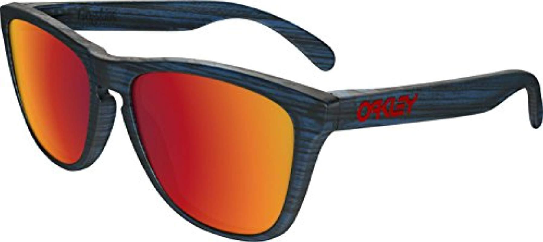 6c0e8e251de Lyst - Oakley Frogskins 009013 Wayfarer Sunglasses in Blue for Men ...