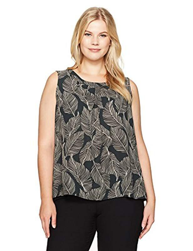 a024862c035998 Lyst - Kasper Plus Size Printed Jewel Neck Cami - Save 51%