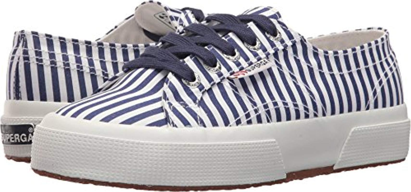 c423a2662a1a Lyst - Superga 2750 Fabricshirtu Sneaker in Blue - Save 37%