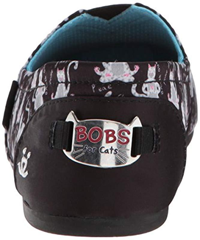 8800403f25c Lyst - Skechers Bobs Bobs Plush-yoga Cat Ballet Flat in Black - Save 2%