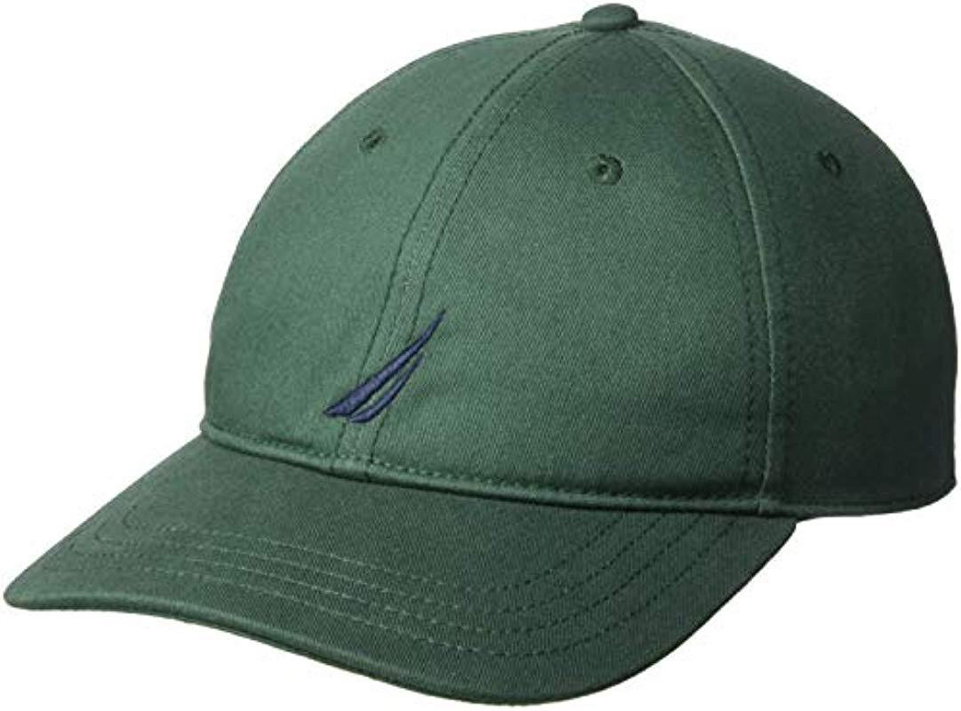 162eec8d63c Lyst - Nautica Classic Logo Adjustable Baseball Cap Hat in Green for ...
