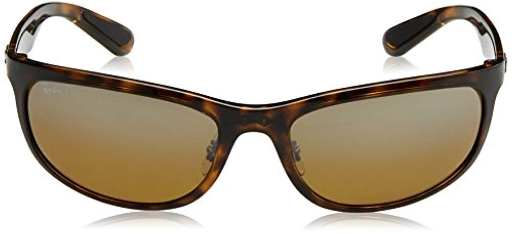 dadd87ae705 Ray-Ban - Brown Rb4265 Chromance Lens Wrap Sunglasses for Men - Lyst. View  fullscreen