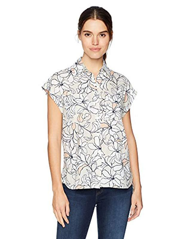 7a59d663fe Lyst - Jones New York Oversized Shirt - Save 33.33333333333333%