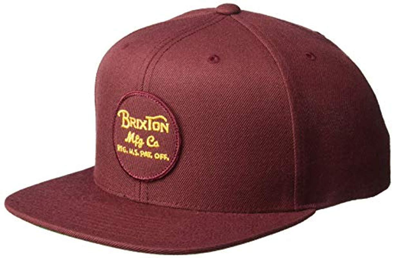 1e0943a0a0f Lyst - Brixton Wheeler Medium Profile Adjustable Snapback Hat in ...