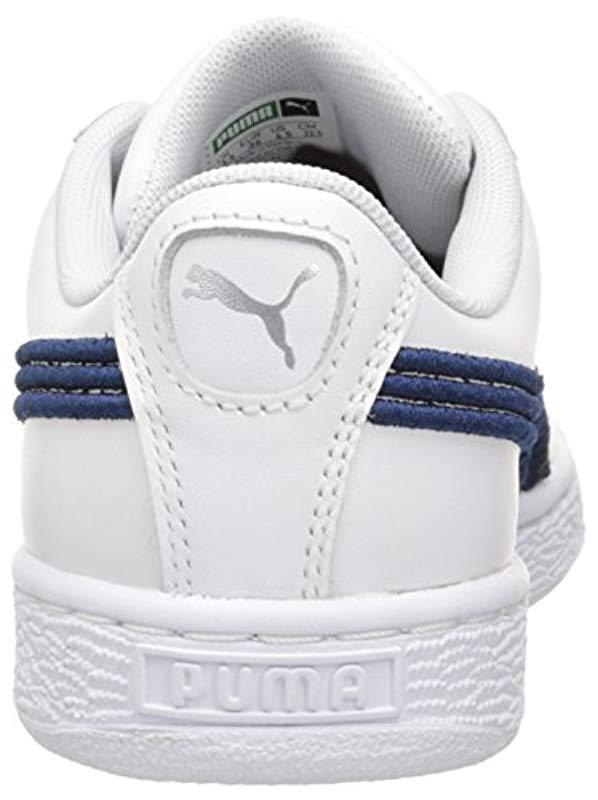 2dfc69c23078 PUMA - Blue Basket Classic Badge Fashion Sneaker for Men - Lyst. View  fullscreen