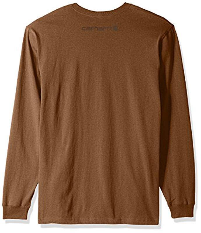 ac839f558 Lyst - Carhartt Big & Tall Signature Logo Long Sleeve T-shirt in ...
