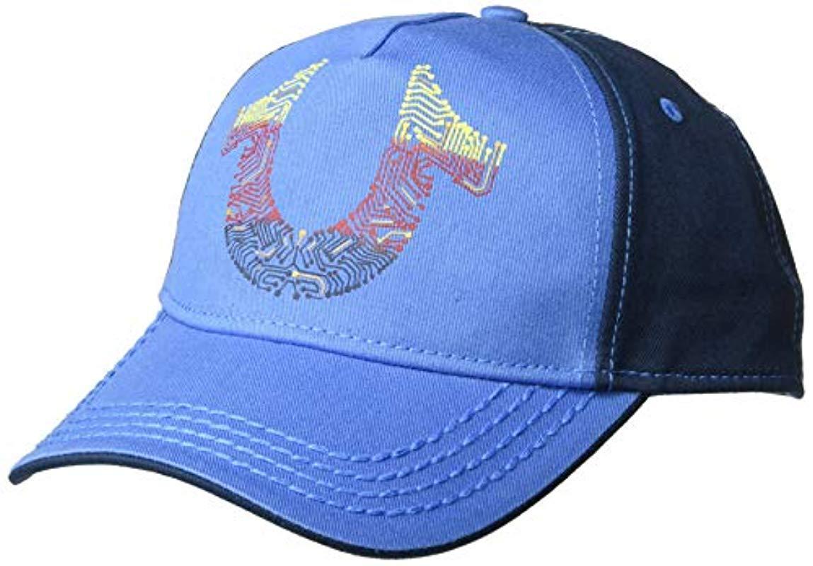 a607d4a2 Lyst - True Religion Digital Horseshoe Ball Cap in Blue for Men ...