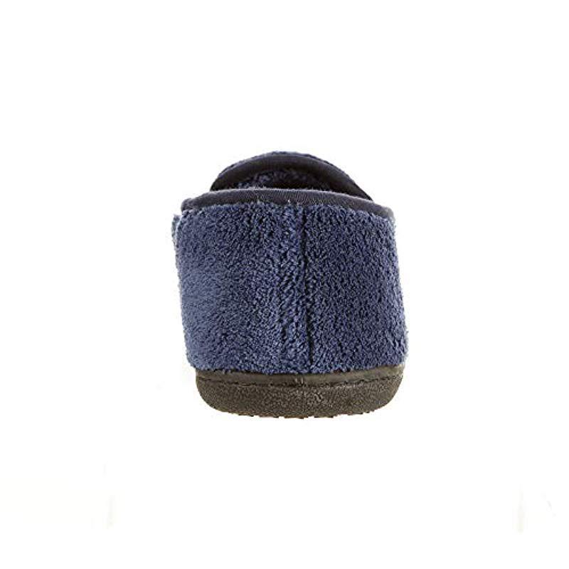 7df395626d12 Isotoner - Blue Terry Slip On Clog Slipper With Memory Foam For  Indoor outdoor Comfort. View fullscreen