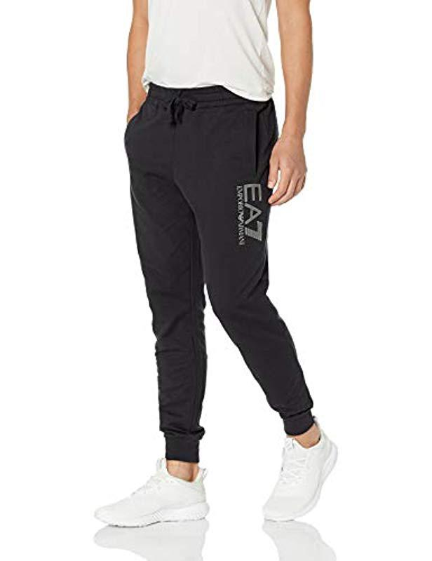 133dceed22 Lyst - Emporio Armani Train Logo Series French Terry Joggers in ...