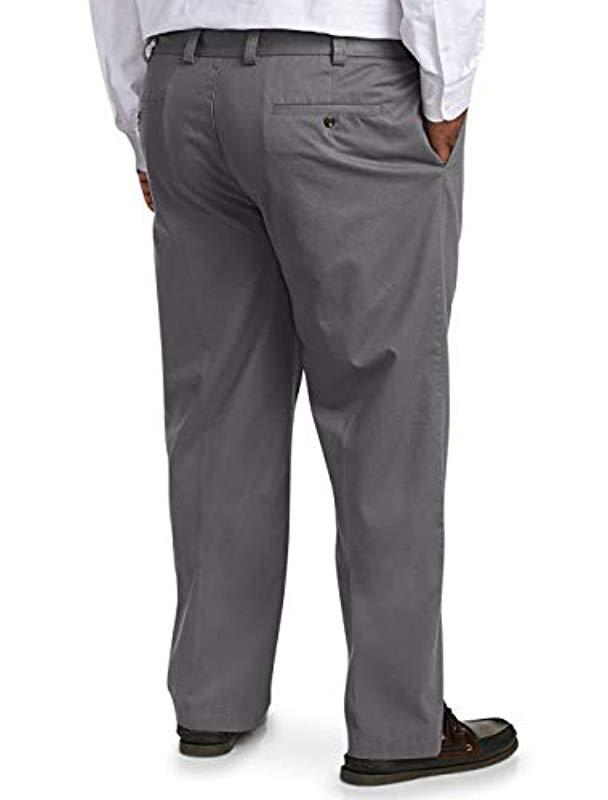 8a39a687 Lyst - Amazon Essentials Big And Tall Relaxed-fit Wrinkle-resistant  Flat-front Chino Pant Fit By Dxl in Gray for Men