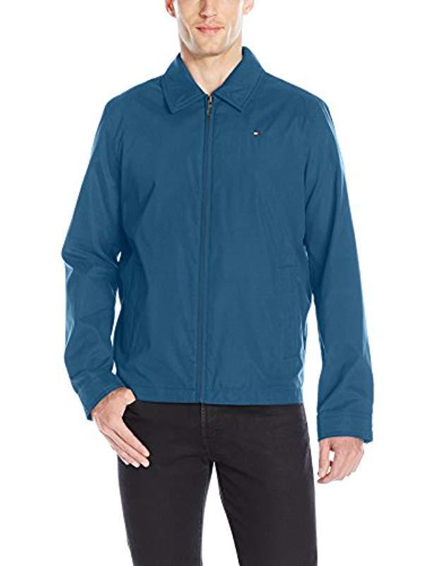 6f0fa429 Lyst - Tommy Hilfiger Lightweight Microtwill Golf Jacket (regular &  Big-tall Sizes) in Blue for Men - Save 13%