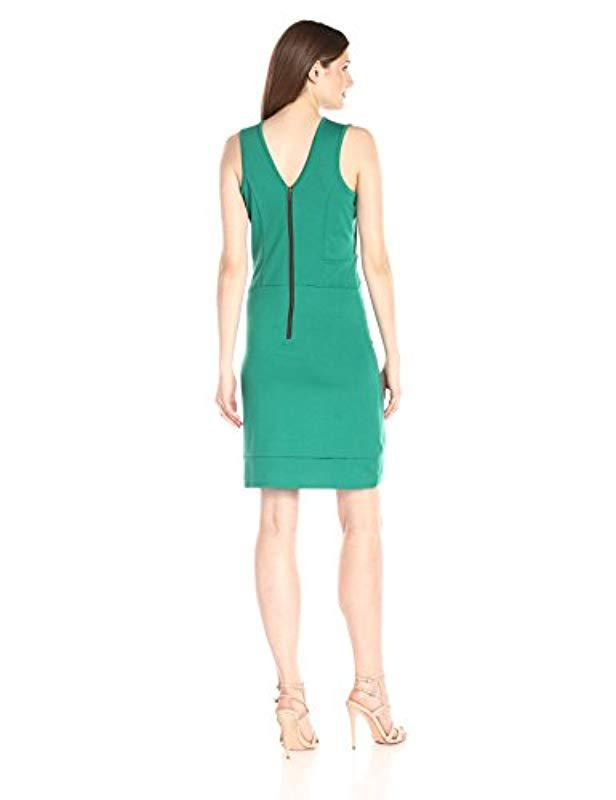 ab89c90febf Lyst - Lark   Ro Sleeveless Scoop Neck Dress in Green - Save 29%
