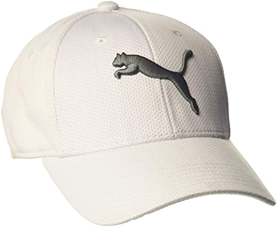 a98caf9f44d18 PUMA - White Evercat Alloy Stretch Fit Cap for Men - Lyst. View fullscreen