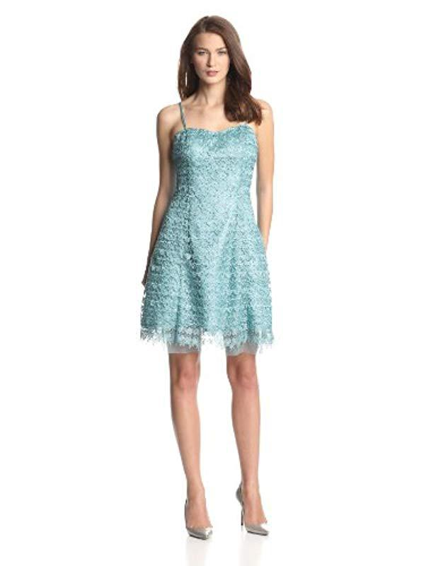 7549505835f637 Lyst - Adrianna Papell Hailey Strapless Party Dress in Blue - Save 25%